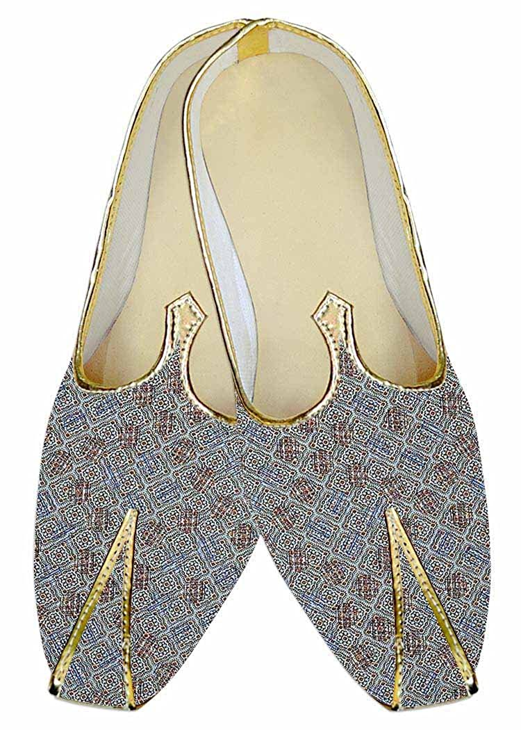 INMONARCH Cielo Azul Hombres Boda Zapatos Modelo Cuadrado MJ015972 39 EU