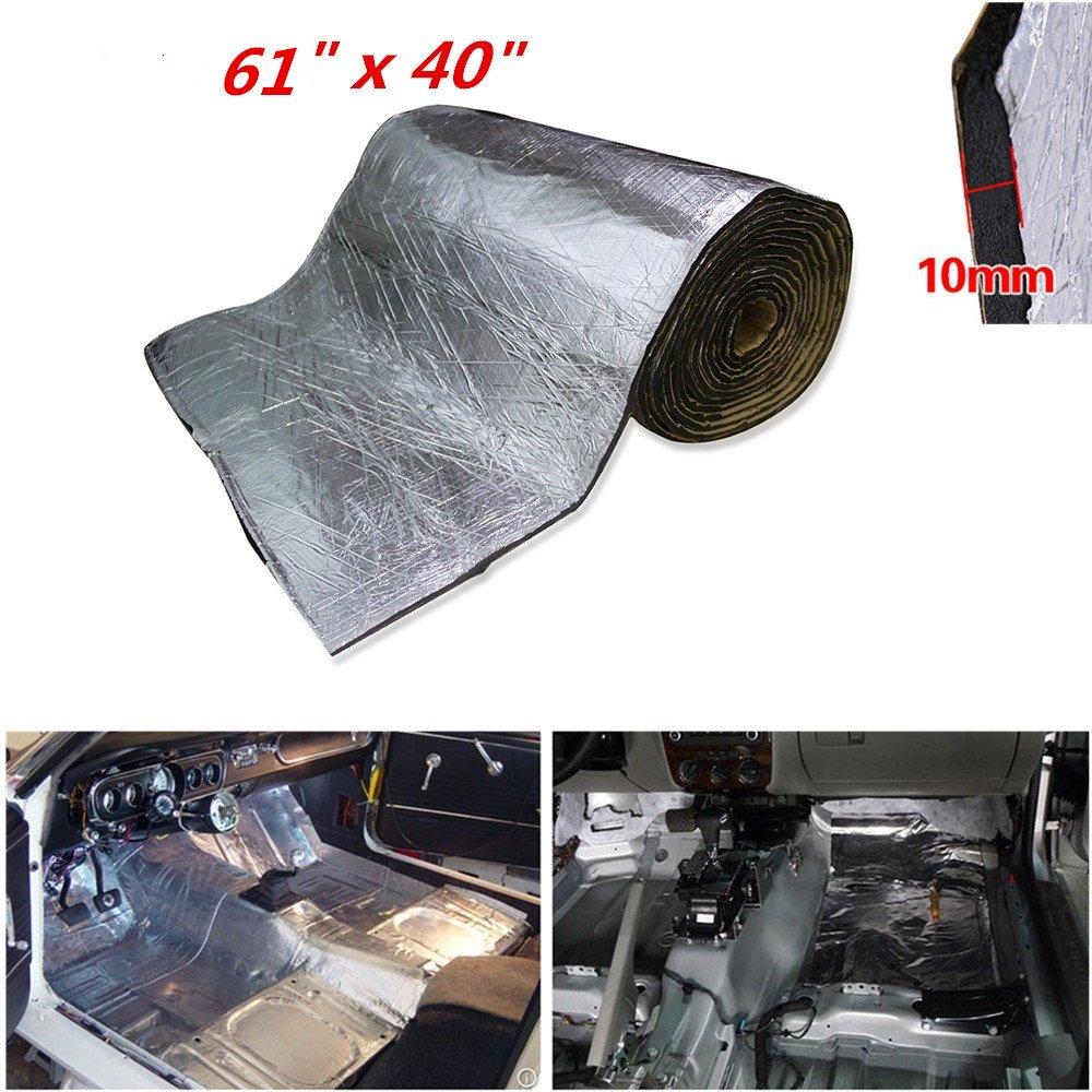 shinehome 10mm/394mil Car Sound Deadener Mat Heat Shield Thermal Insulation Mat, Soundproof Insulation Sound deadening Material Jeep Wrangler Sound deadening Outdoor Sound deadening