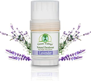 product image for Green Tidings Natural Lavender Deodorant | Vegan, Organic Deodorant for Men and Women, Fragrance Free & Aluminum Free Deodorant, Underarm Antiperspirant 1 Oz 1 Pack