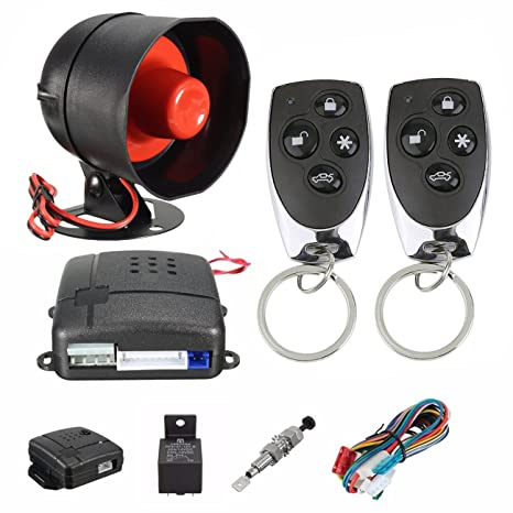 UHeng Car Alarm Vehicle Security System Keyless 2 Remote Control Siren Horn
