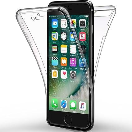 Funda iPhone 7 Plus, Leathlux Carcasa iPhone 7 Plus Gel Silicona Transparente Skin Cover TPU full Protección Delanteros y Traseros Case Cover para ...
