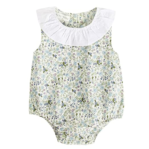 455edfea087 Amazon.com  CCSDR Baby Girls Sleeveless Rompers
