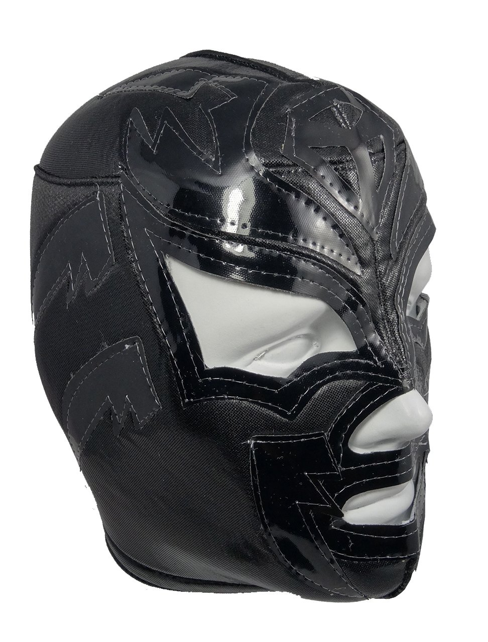 SOMBRA Adult Lucha Libre Wrestling Mask (pro-fit) Costume Wear - Black by Mask Maniac