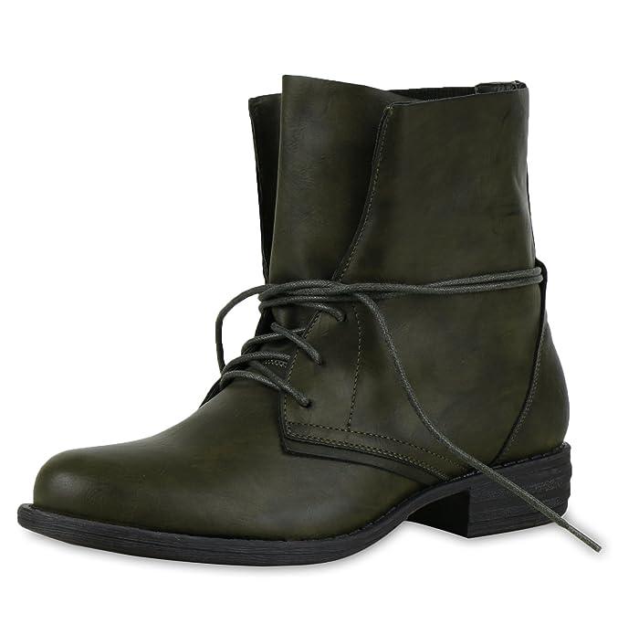 best-boots Damen Stiefelette Boots Worker Stiefel