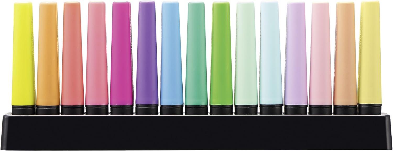 Deskset de 15 surligneurs Couleurs fluo et pastel 7015-01 STABILO BOSS ORIGINAL