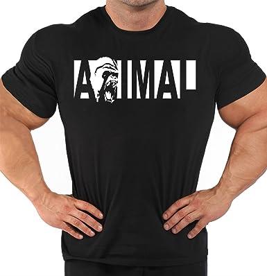 80722195182 Men s Gym Motivation Body Building Black T-Shirt Animal - Gym MMA Workout  Bodybuilding T-Shirt S-5XL  Amazon.co.uk  Clothing