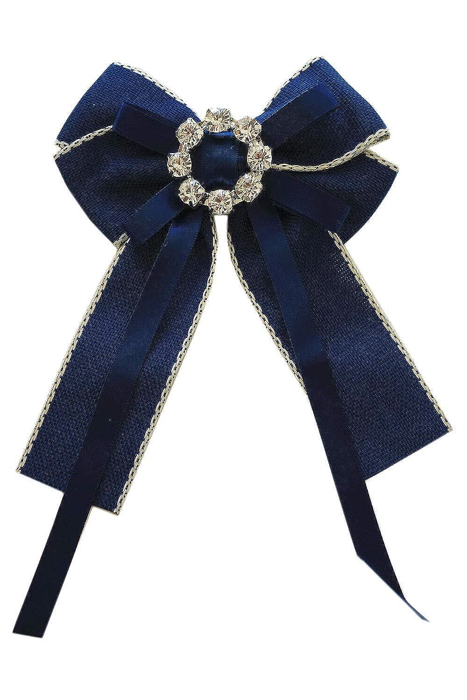 Schleifenbrosche Blau Diamanten Strass Steine Brosche Schleife Anstecker C8518