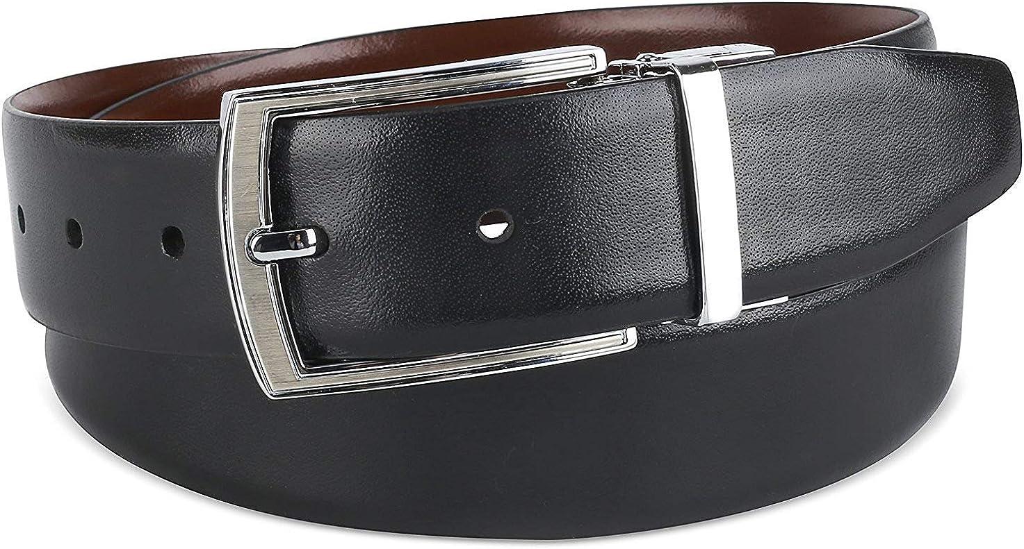 The Savile Row Company Mens Dress Leather Belt 35MM 1.38