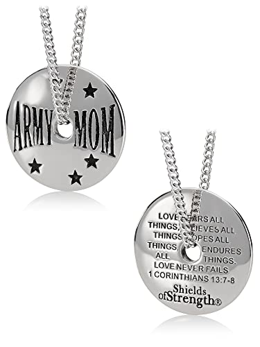 374ed351a Image Unavailable. Image not available for. Color: Women's Stainless Steel  Army Mom Necklace-1 ...