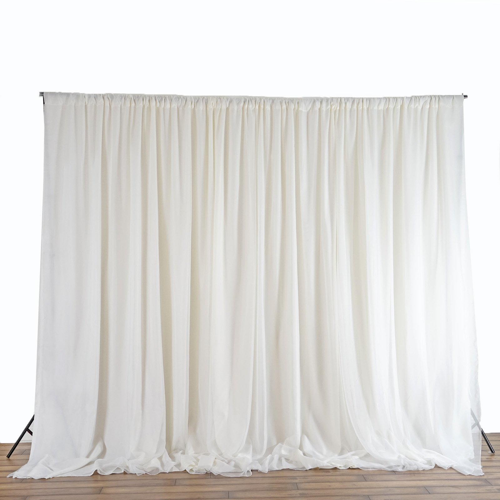 Efavormart 20ft x 10ft Chic-Inspired Party Wedding Backdrop Photography Background Fabric Photo Backdrop Studio Background - Ivory