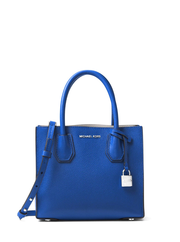 MICHAEL Michael Kors Mercer Medium Leather Crossbody Bag - Electric Blue