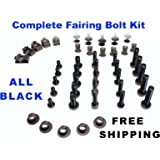 Complete Motorcycle Fairing Bolt Kit Suzuki GSX-R 600 / 750 2008 - 2009 Body Screws, Fasteners, and Hardware