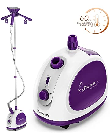 Homever Upright Garment Steamer with 1.1L Large Water Tank, Fabric Brush, Splint and