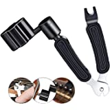 Guitar Winder Guitar String Winder and Cutter -All-In-1 Restringing Tool Includes Clippers Bridge Pin Puller Peg Winder Desig