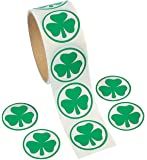 Fun Express Shamrock Roll Stickers (100 Piece)