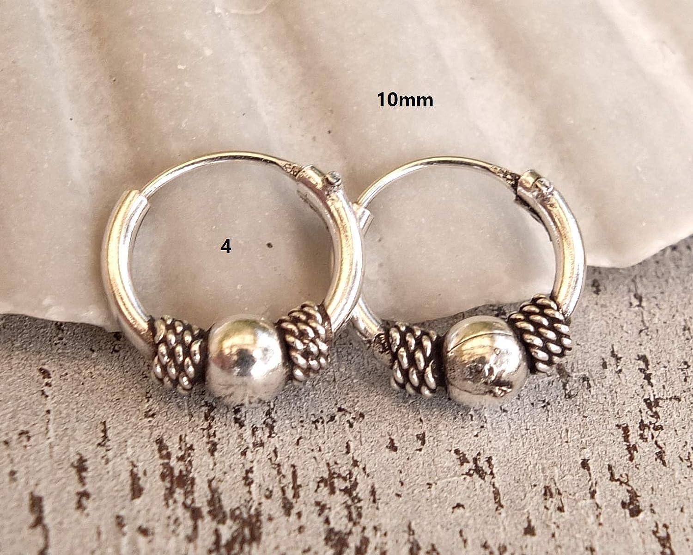 10mm Hoop Earrings Turquoise Beaded Hoops Pair of 10mm Gold over Silver Hoop Earrings Handmade Hoops