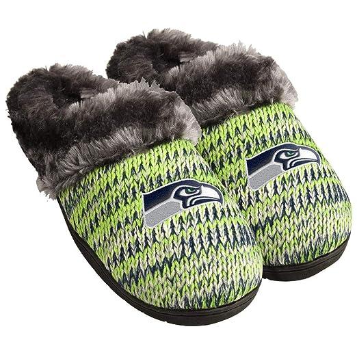 c7438a2f Amazon.com: Seattle Seahawks Women's Football Peak Slide Slippers ...