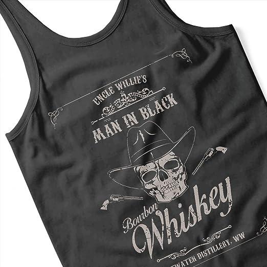 Cloud City 7 Man In Black Bourbon Whiskey Westworld Men's Vest:  Amazon.co.uk: Clothing