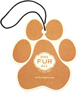 product image for One Fur All Pet House Car Air Freshener, Pack of 4 – Pina Colada - Non-Toxic Auto Air Freshener, Pet Odor Eliminating Air Freshener for Car, Ideal for Small Spaces, Dye Free Dog Car Air Freshener