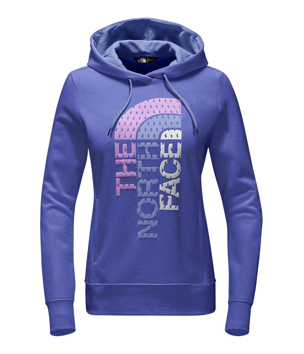 The North Face Women's Trivert Pullover Hoodie Amparo Blue Heather/Chambray Blue Multi XL