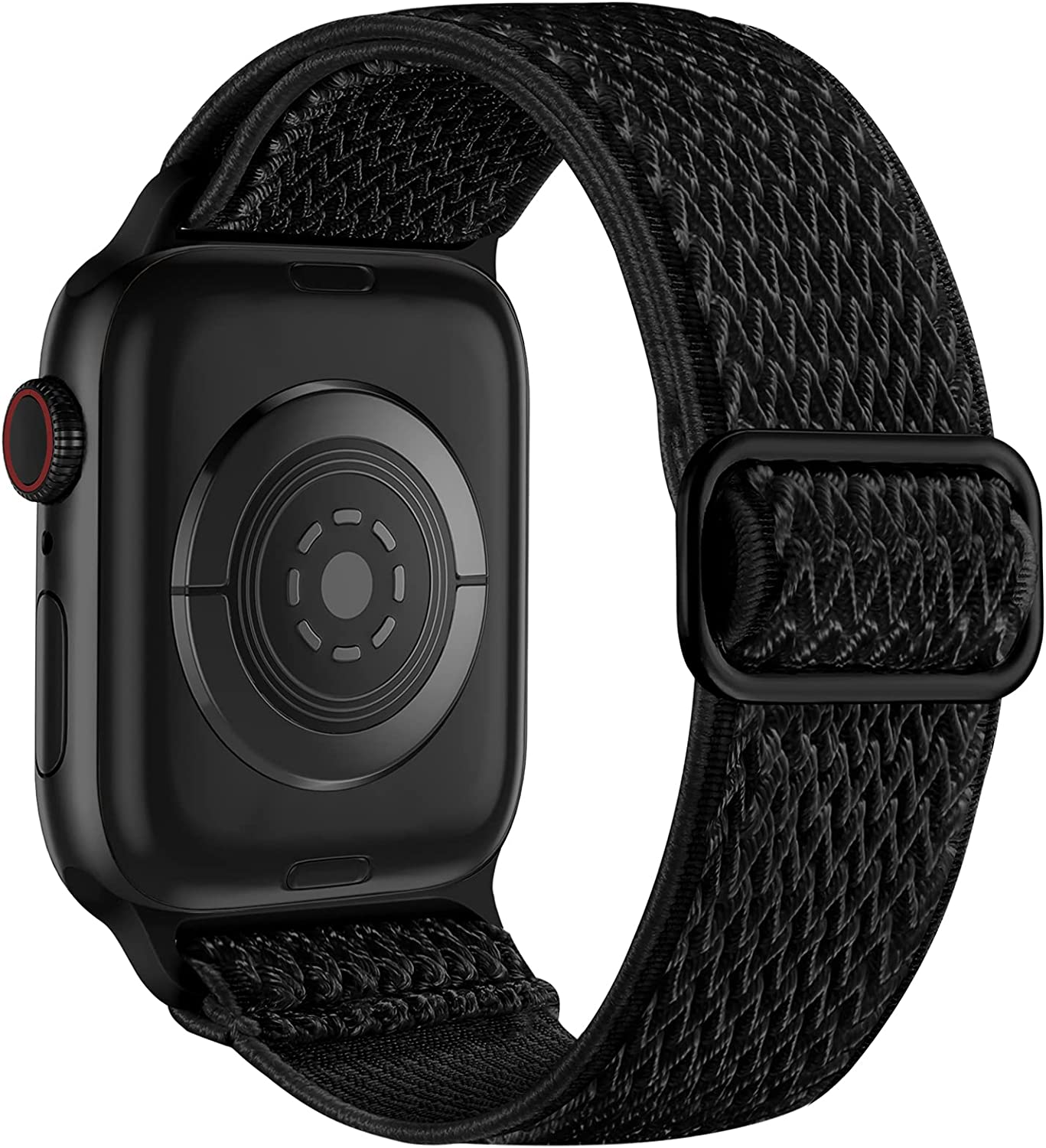 Lerobo Elastic Bands Compatible with Apple Watch 44mm 42mm 40mm 38mm for Women Men,Stretchy Solo Loop Soft Nylon Adjustable Braided Replacement Band for Apple Watch SE Series 6,Serise 5 4 3 2 1 Black
