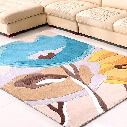 Simple Rug Designs Handmade Pattern Carpet Modern Living Room Coffee Table Bedroom Bedside