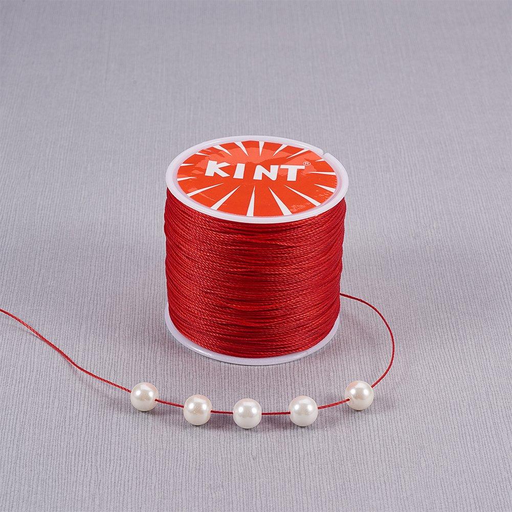 44352e63a71a PandaHall Elite 1 Rollo 116 Yards 0.5 mm Blanco Cordón de algodón ...