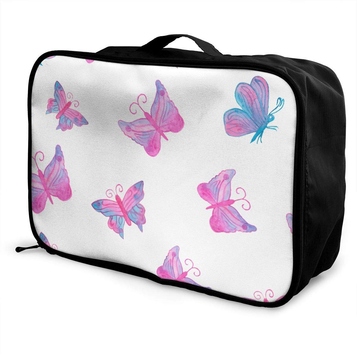 JTRVW Luggage Bags for Travel Lightweight Large Capacity Portable Duffel Bag for Men /& Women Pink Butterflies Travel Duffel Bag Backpack