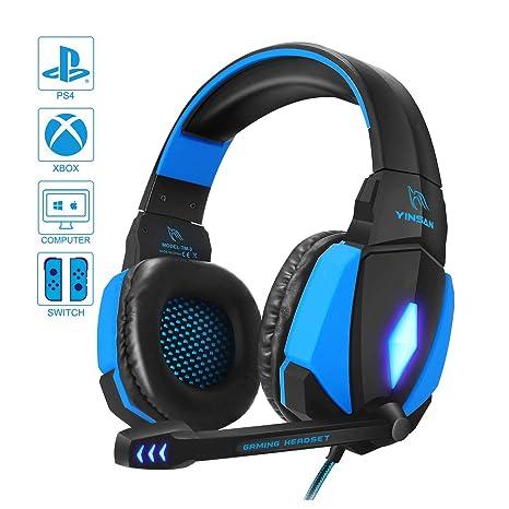 Cascos Gaming, YINSAN Auriculares Premium Stereo con Micrófono ...