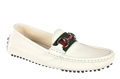 Gucci Mocasines en Piel Mujer Nuevo Road Blanco EU 37 265309 AHM109051: Amazon.es: Zapatos y complementos