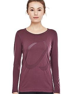 c95f373d5d CRZ YOGA Women's Seamless Active Long Sleeve Workout Running Sports Leisure  T-Shirt
