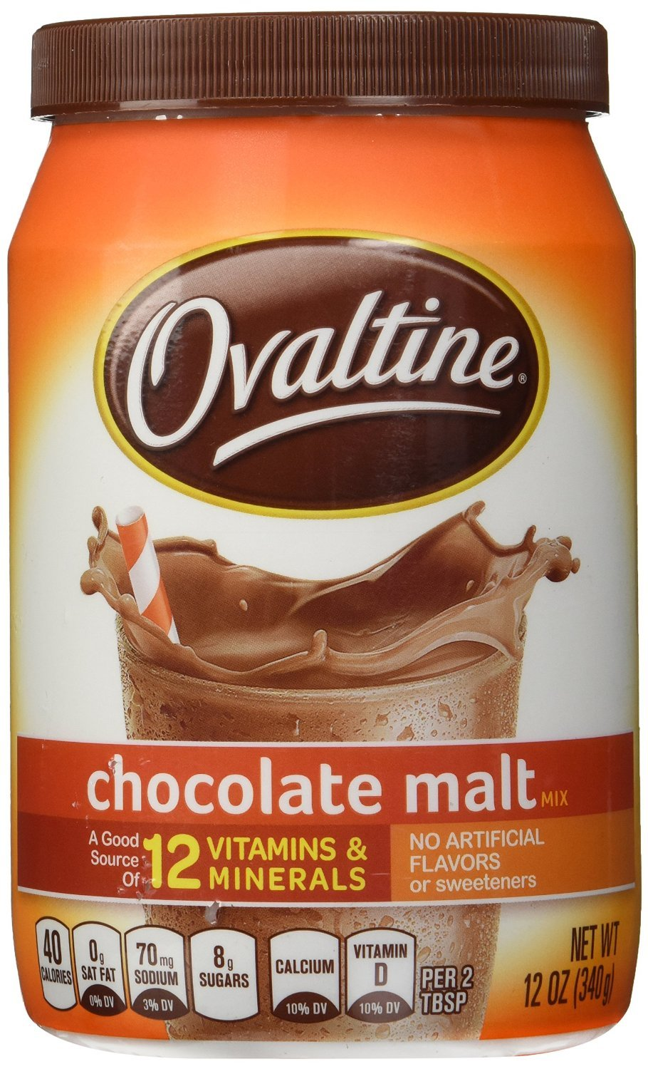 Ovaltine Chocolate Malt 12 oz (Pack of 3)