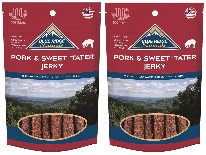 (2 Pack) bluee Ridge Naturals Pork and Sweet Potato Jerky 12 oz
