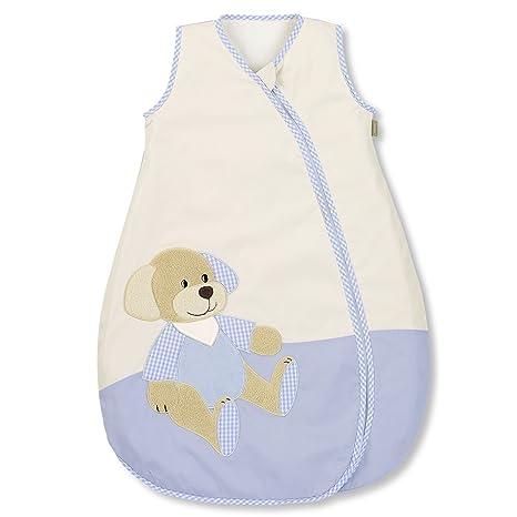 Sterntaler Henri - Saco de dormir de verano para bebé azul/beige Talla:90