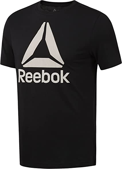 Reebok Mens Stacked Logo Crew Tee