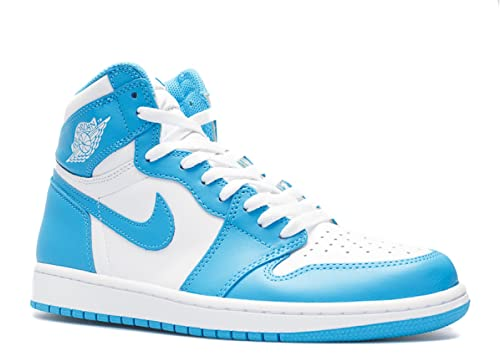 a6aee7297ef4c Air Jordan 1 Retro High Og UNC 2015 White Dark Powder Blue 10 D(M) US  Buy  Online at Low Prices in India - Amazon.in