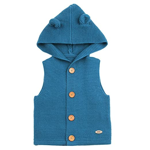 3446b29977bb Amazon.com  DIGOOD Toddler Baby Baby Boys Girls Knitted Ears Hooded ...