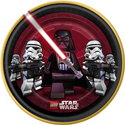 LEGO Star Wars Large Paper Plates (8ct)  sc 1 st  Amazon.com & Amazon.com: LEGO Star Wars Large Paper Plates (8ct): Toys \u0026 Games