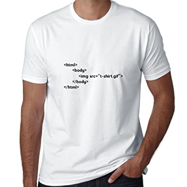 Código HTML Graphic - Ordenador programador programador Humor camiseta para hombre: Amazon.es: Ropa y accesorios