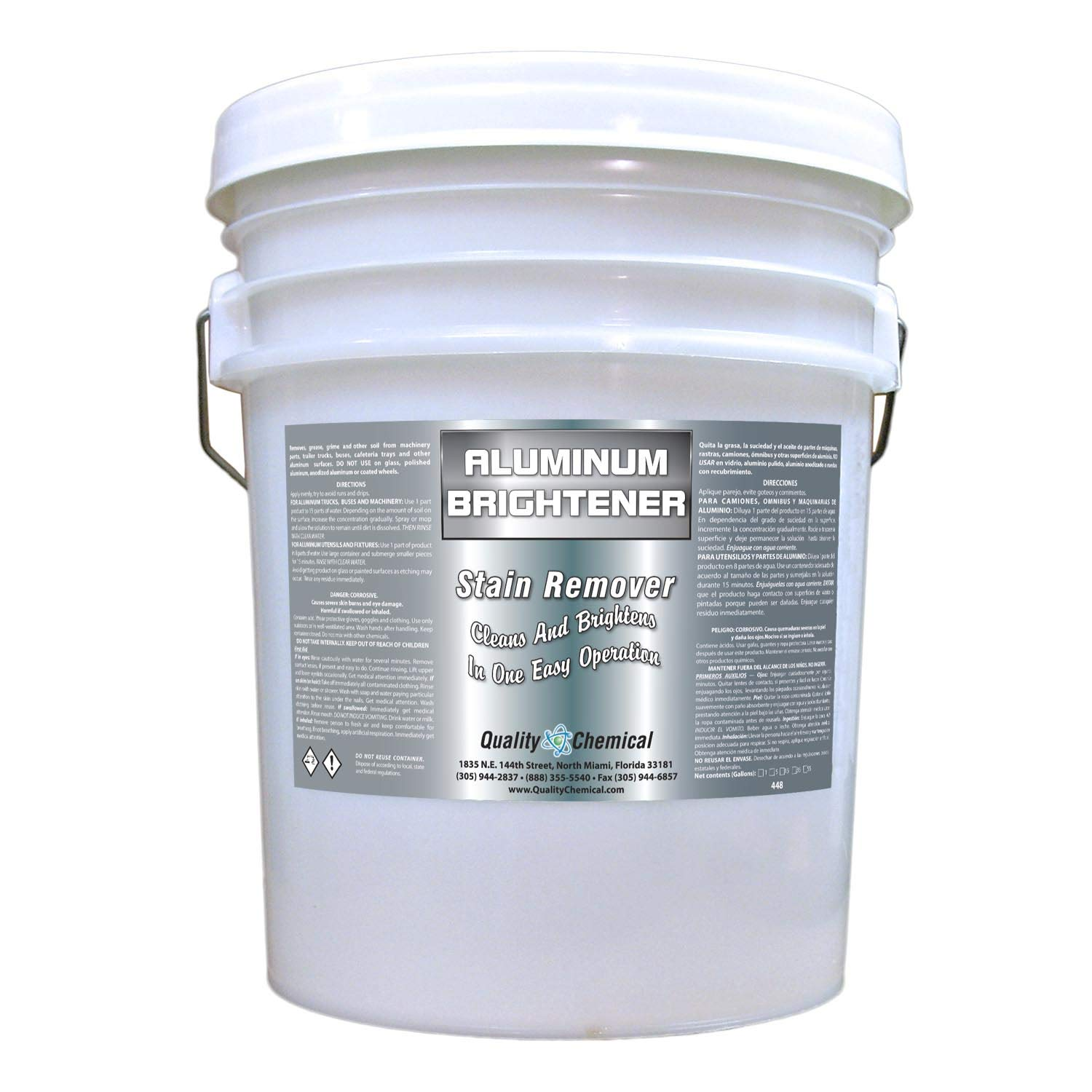 Amazon com: Aluminum Cleaner & Brightener & Restorer (5 gallon pail