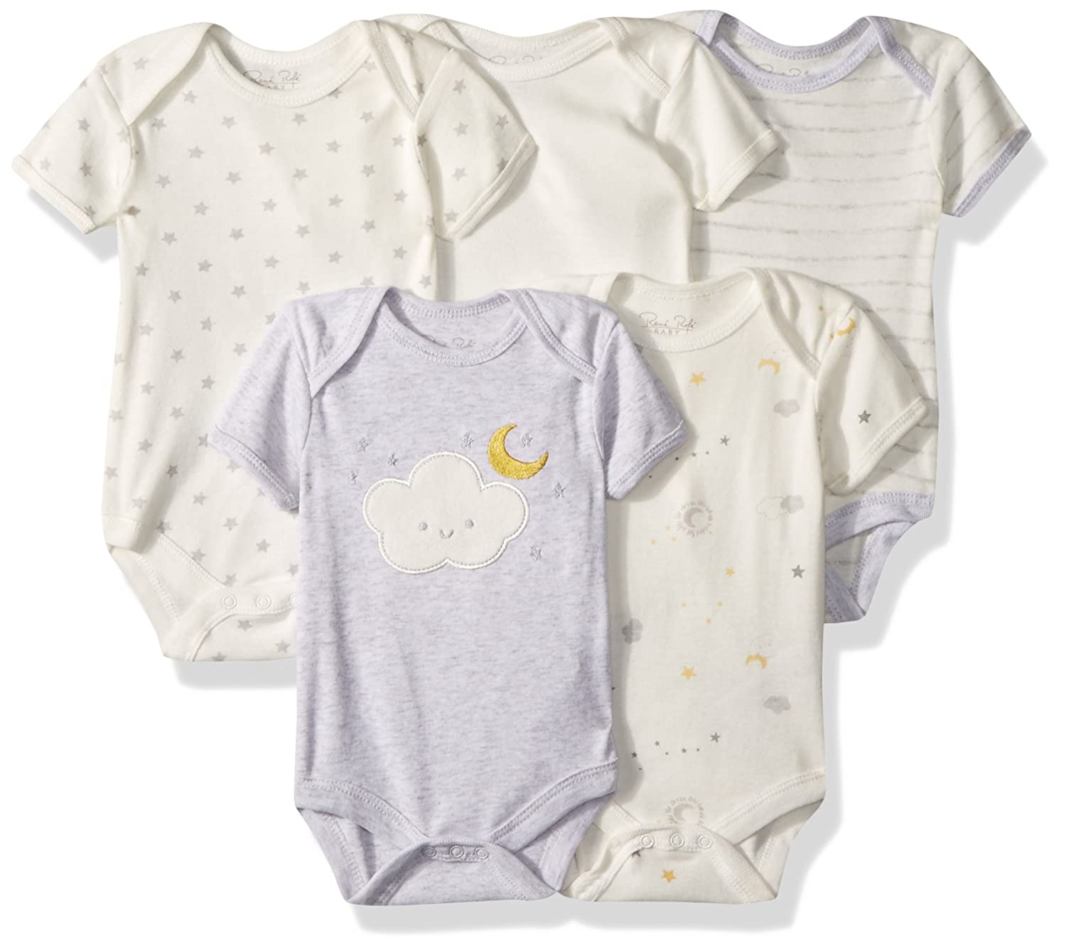 Rene Rofe Baby Collection Unisex 5-Pack Bodysuits