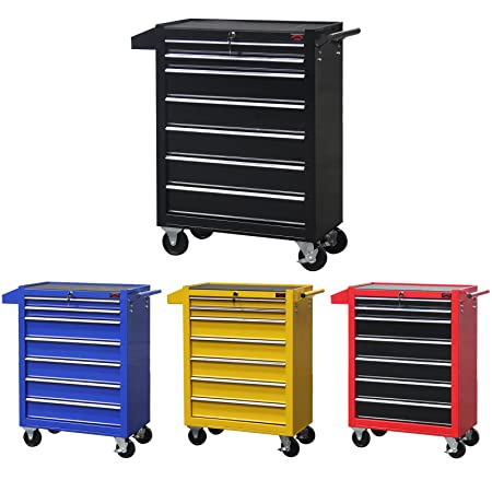 Dirty Pro Tools Mobile Roller Tool Chest Trolley Storage Cart Tool Box Toolbox On Wheels