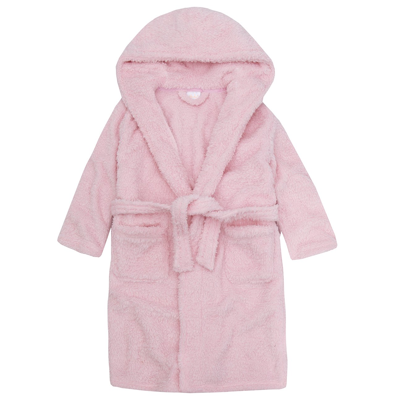 4Kidz Infant Girls Sparkle Snuggle Fleece Dressing Gown - Hooded Robe Nightwear