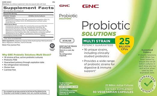 Amazon.com: GNC – Soluciones Multi tensión Probiótico 25 mil ...