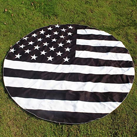 imjono redonda impresión hippie tapiz playa Picnic manta Yoga Mat Toalla Manta, negro: Amazon.es: Jardín
