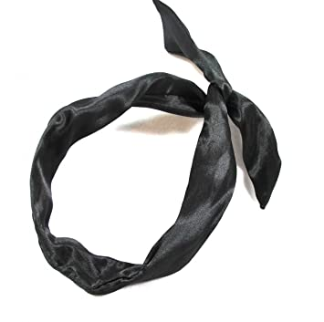 Amazon.com   Black Satin Headband with Wire   Hair Clips   Beauty 6f3acffc484