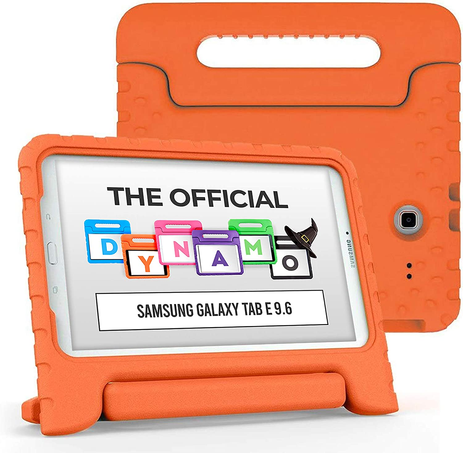 Cooper Dynamo [Rugged Kids Case] Protective Case for Samsung Tab E 9.6 | Child Proof Cover, Stand, Handle | SM-T560 T561 T562 T563 T565 T567 (Orange)