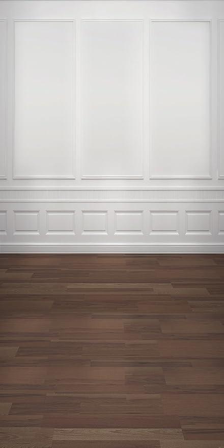 Konpon 15 X 3 M Bianco Legno Parete Sfondo Fondale Fotografico