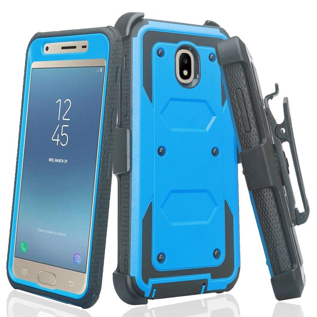 [Coverlab] for Samsung Galaxy J3 2018, Express Prime 3, SM-J337A Case, J3  Star, J3 Achieve, J3 Aura, Amp Prime 3 Case, Built in Screen Protector  Heavy