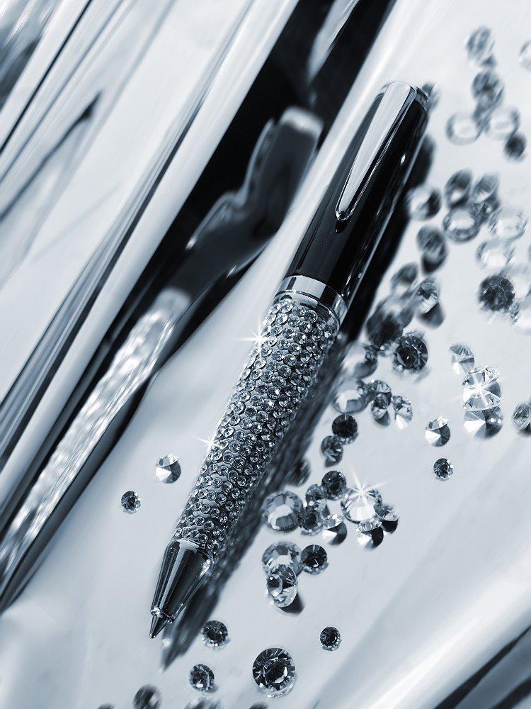 Charles Charles Charles Dickens Kugelschreiber Metall mit Drehfunktion - Svarowski Elements - 3376 B0193BBYK6 | Realistisch  2c72b1